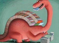 Sempre criança: Booksaur / Librosaurio (ilustración deKlaas Verpl...