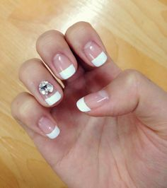 White french gel nail