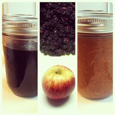 Blackberry Jam & Apple sauce! I LOVE canning, knowing Autumn is near.