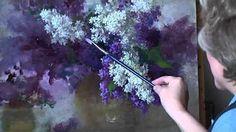 Мастер класс рисуем Сирень в студии живописи Валенсия - YouTube