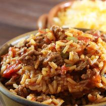 Spanish Rice With Ground Beef... and bacon!