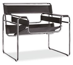 wassily chair, 1925, Hungarian designer Marcel Breuer's Wassily chair was inspired by bicycle frames.