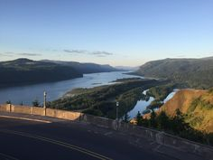 View of Columbia Gorge from Crown Point, just to the east of Portland, Oregon