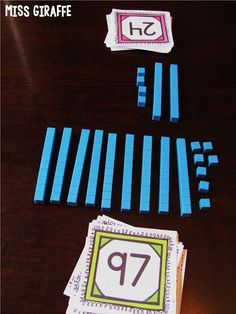 Fun place value games and activities to play that cause students to THINK about what numbers actually stand for and mean Math Classroom, Kindergarten Math, Teaching Math, Teaching Ideas, Classroom Ideas, Primary Teaching, Google Classroom, Classroom Organization, Second Grade Math