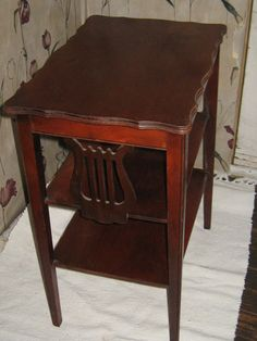 antique side end table with HARP DESIGN by Linsvintageboutique, $95.50