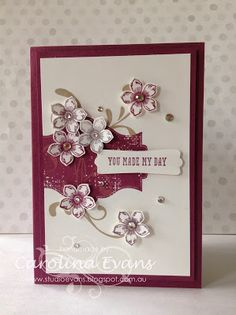 Everything Eleanor with Petite Petals - more fab cards! Carryover items made using Stampin' Up! products by Carolina Evans 2015-2016 Annual Catalogue #stampinup