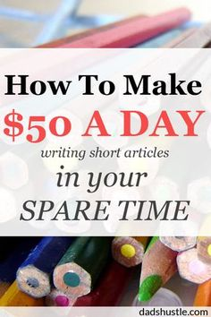 How to make money ($50+ a day) writing articles in your spare time. Wow, writing really ROCKS! I loved writing short articles for money when I first started. But now I've added a pretty crazy hook to it. Check out how you too can start with no skills and start making some money on the side in your spare time.