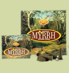Myrrh Incense Hand rolled Myrrh Incense Cones by the Sandesh Agarbathi Conpany in India. Their incense consists mainly of natural forest products and natural oils (approximately The result is that this incense is environmently fr