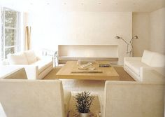 :: FIREPLACES :: Fireplace Detail - cantilevered concrete ledge with white rock sand pan #fireplaces
