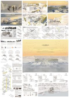 University Architecture, Japan Architecture, Architecture Panel, Landscape Architecture, Landscape Design, Architecture Design, Architecture Portfolio Layout, Architecture Presentation Board, Presentation Layout