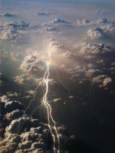Lightning, as seen from above.