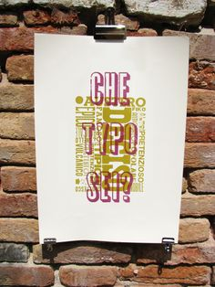 cabaret typographie work