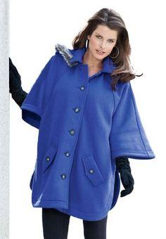 Roamans Plus Size Hooded Cape $34.99