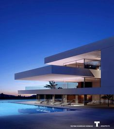 Luxury Villa in Adeje (Tenerife - Canary Islands - Spain) by Teotimo Architect via onreact Minimalist Architecture, Modern Architecture House, Architecture Design, Modern Villa Design, Modern Mansion, Luxury Homes Dream Houses, Dream House Exterior, Dream Home Design, Exterior Design