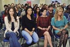 The Pretty Little Liars' school assembly frocks. | 25 Pretty Little Liar Fashions We Envy