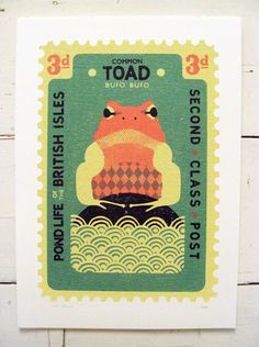 Large Toad Stamp