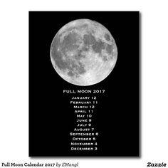 Full Moon Calendar 2017 Postcard