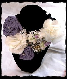 I Do Wedding Statement Bib Necklace Shabby by TrueRebelClothing, $60.00
