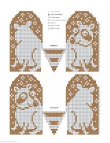 Graph Only.easy enough to figure out Knitted Mittens Pattern, Knit Mittens, Knitting Socks, Mitten Gloves, Knitting For Kids, Double Knitting, Baby Knitting, Knitting Charts, Knitting Stitches