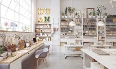 Sewing studio interior home office 49 Ideas Design Studio Office, Workspace Design, Art Studio Design, Ppt Design, Design Page, Design Fails, Design Websites, Free Design, Custom Design
