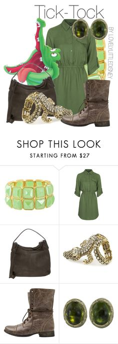 """Tick-Tock the crocodile"" by lovelylittledisney ❤ liked on Polyvore featuring AtStyle247, Topshop, Fritzi aus Preußen, Club Manhattan, Steve Madden, Wayne Smith Jewels, disney, peterpan, disneycharacter and lovelylittledisney"