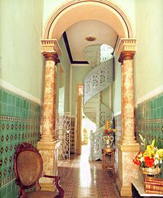 I love Cuban architecture - this is the Casa Miguel Suarez in Trinidad (a beautiful Casa Particular where I have stayed). Miguel Suarez is a charming, genteel man. We had a fabulous time here.