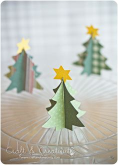 Dagens pyssel, pappersgran – Craft of the Day, paper Christmas tree | Craft & Creativity – Pyssel & DIY