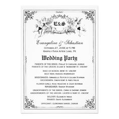 fairy tale storybook wedding programs