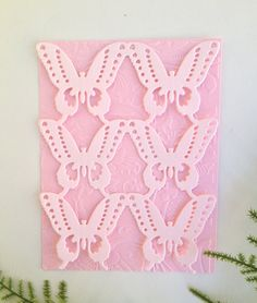 Embossed Card with Butterfly Die