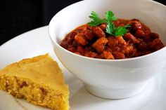 The Comfort of Cooking » Three-Bean Beef Chili with Honey Cornbread