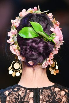 fashion MY EDIT posted purple hair pink hair colored hair dyed hair hairstyle runway blue hair fashion week silver hair dolce and gabbana hairdo grey hair edited hair dolce&gabbana Hair Color Pink, Purple Hair, Hair Colors, Dark Purple, Dolce & Gabbana, Catwalk Hair, Runway Hair, Head Band, Purple Fashion