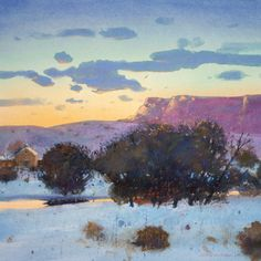 New Mexico Village at Twilight - by Tom Perkinson