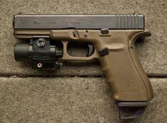 Glock 21 .45 with beavertail blackstrap