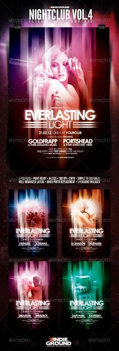 Nightclub Flyer/Poster Vol. 4 http://graphicriver.net/item/nightclub-flyerposter-vol-4/162762?ref=DusskDesign