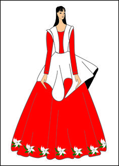 Vestido de prenda conceitual