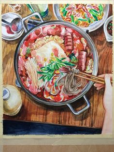 Heres another step by step work in progress of a food illustration preview of a food illustration in cook korean a comic book with recipes forumfinder Gallery