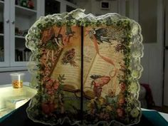 This in incredible !!!!   So much detail.  Once Upon a Springtime -Altered box with Gatefold Envelope  Mini Album