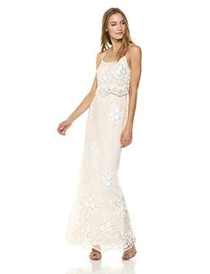 b82c9503 Adrianna Papell Women's Spaghetti Strap Sequin Embroidered Popover Dress at Amazon  Women's Clothing store: Prom