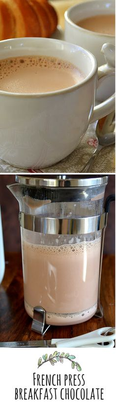 The secret to rich frothy hot chocolate?  Use your French press!