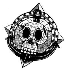 Anchor, Skull