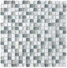 Bliss Iceland Stone and Glass Square Mosaic Tiles | Rocky Point Tile - Online Glass Tile and Glass Mosaic Tile Store