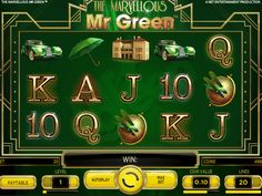 Lass uns unsere Neusten drehen online Automat The Marvellous Mr. Green - http://freeslots77.com/de/the-marvellous-mr-green/