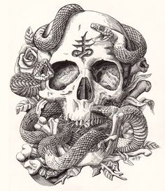Skull and Snake by Sapip Tenktai