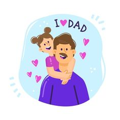 Fathers Day Wishes, Fathers Day Poster, Fathers Day Crafts, Happy Fathers Day, Dad Drawing, Super Papa, Mother Art, Cute Cartoon Pictures, Dad Day