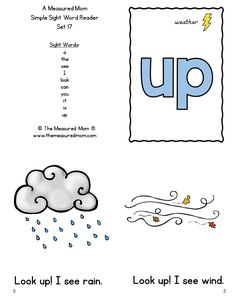 These simple sight word books are great for new readers! Get them in both color and black and white.