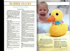 Rubber Ducky - Free Amigurumi Pattern ( click picture to read and download)