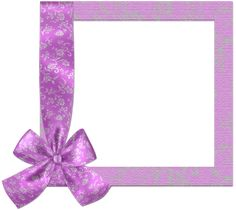 Cute Rich Pink PNG Frame with Bow