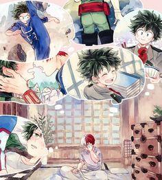 """Boku no Hero Academia    Todoroki Shouto, Midoriya Izuku, """"TodoDeku"""" #mha"""