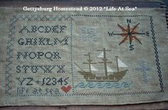 """Gettysburg Homestead """"Life At Sea"""" pattern now available."""