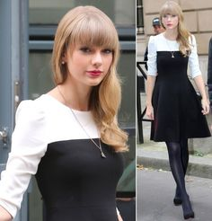 Kate Spade black and white colorblock dress